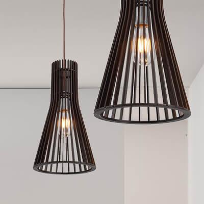 卡爾頓原木吊燈 2