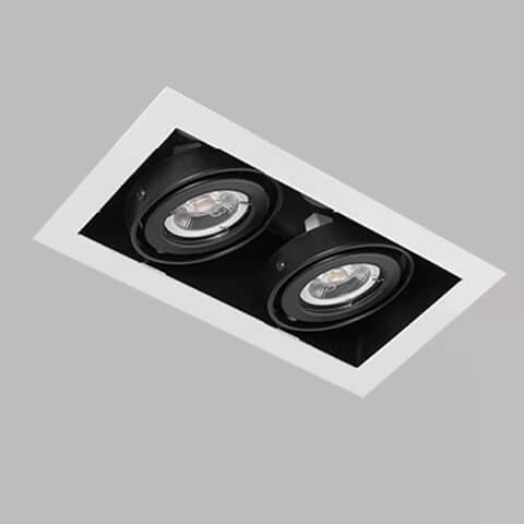開孔200*100mm*MR16 COB 5W*2有邊框盒燈 2