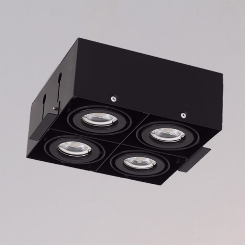 開孔219*219mm*MR16 COB 5W*4無邊框盒燈 1